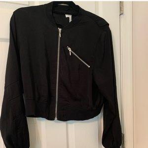 H&M | black bomber jacket